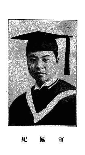 纪庸(纪国宣)1933年北师大毕业照